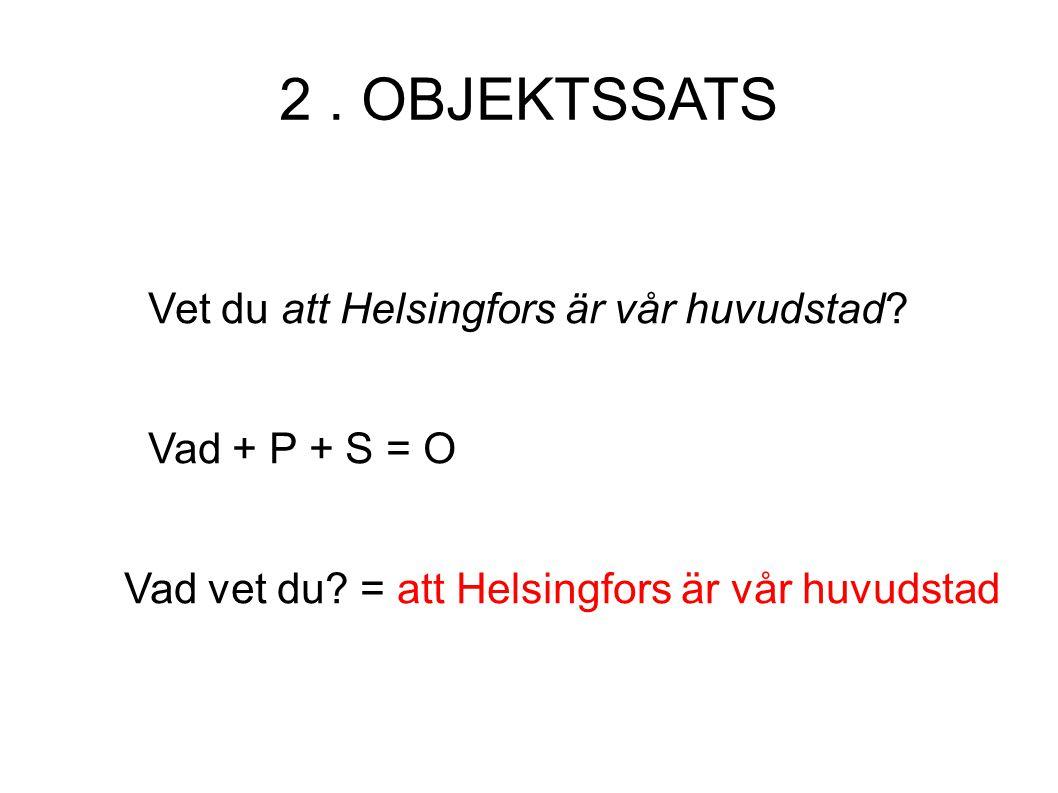 Vet du att Helsingfors är vår huvudstad