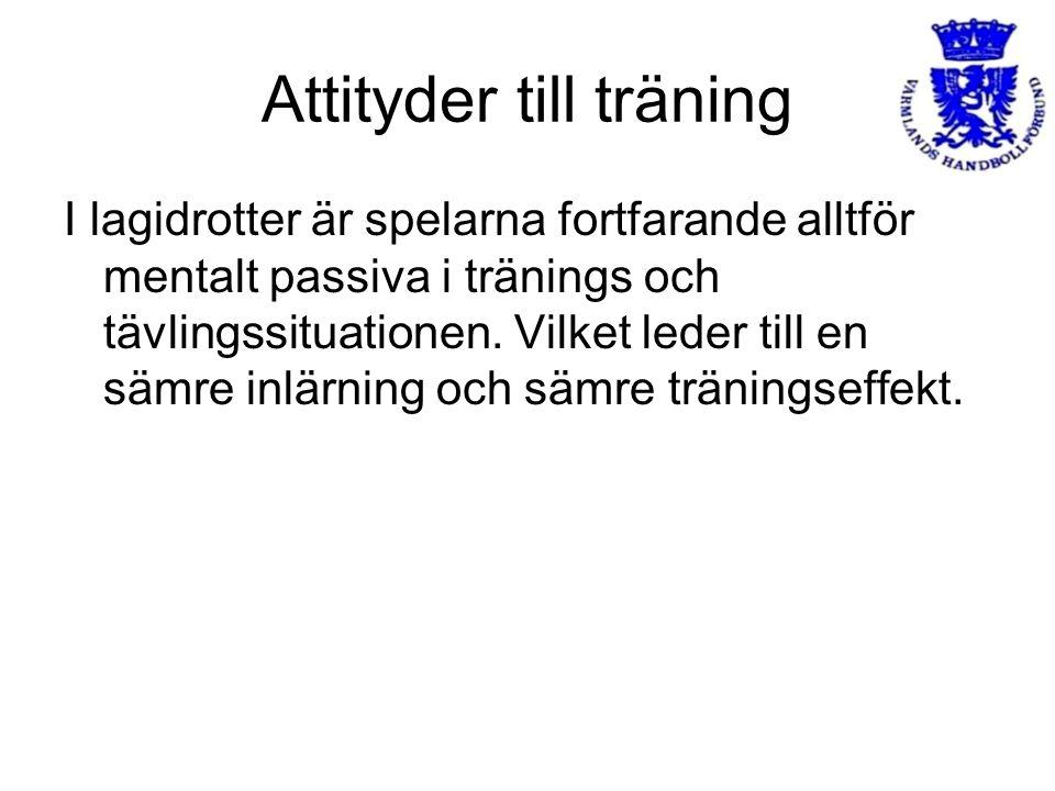 Attityder till träning