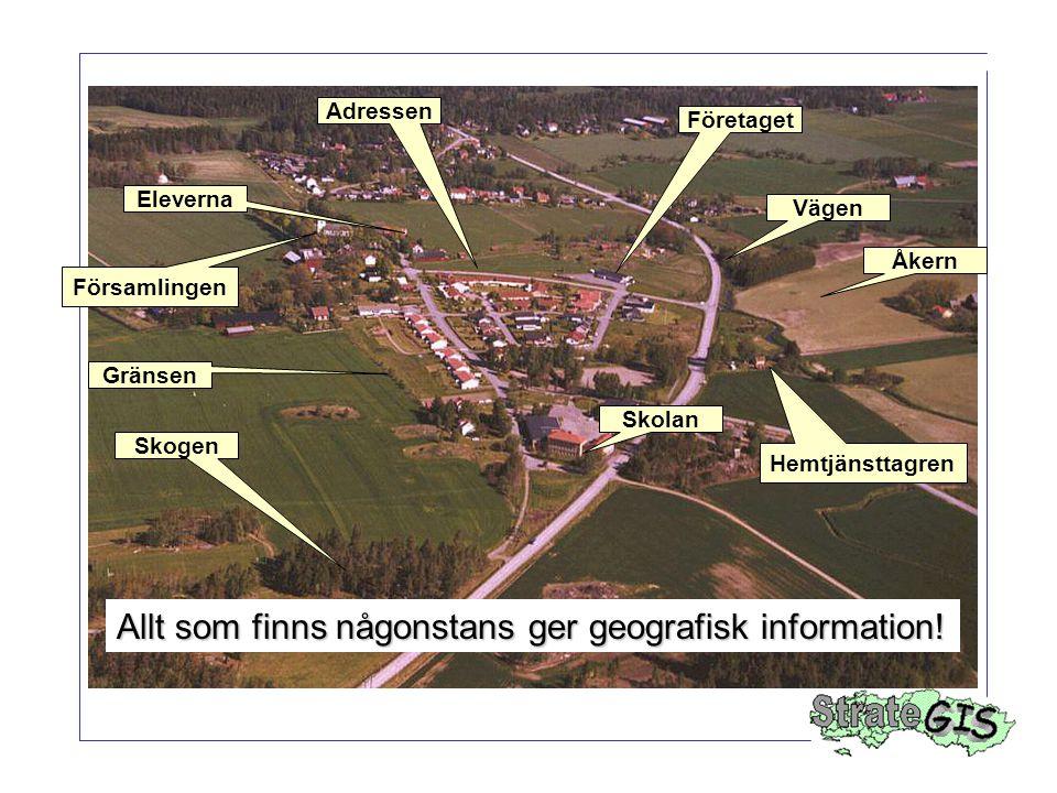 Allt som finns någonstans ger geografisk information!