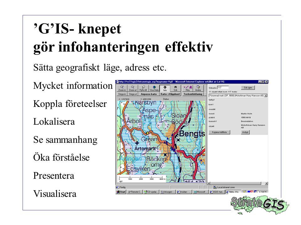 'G'IS- knepet gör infohanteringen effektiv