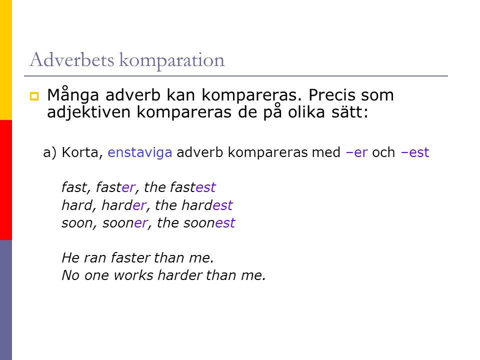 Adverbets komparation