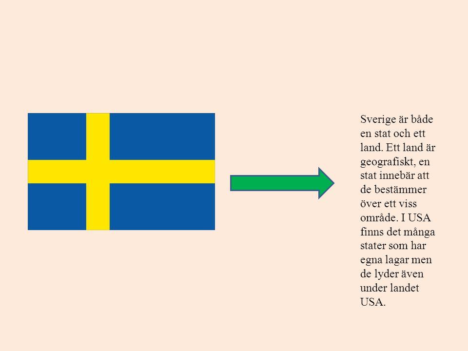 Sverige är både en stat och ett land