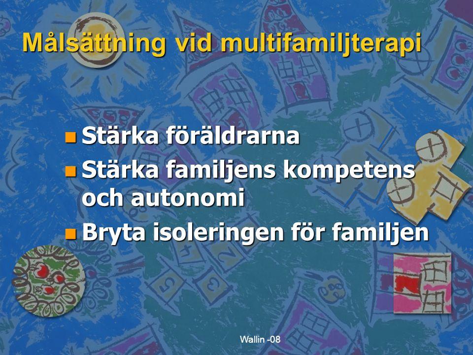 Målsättning vid multifamiljterapi