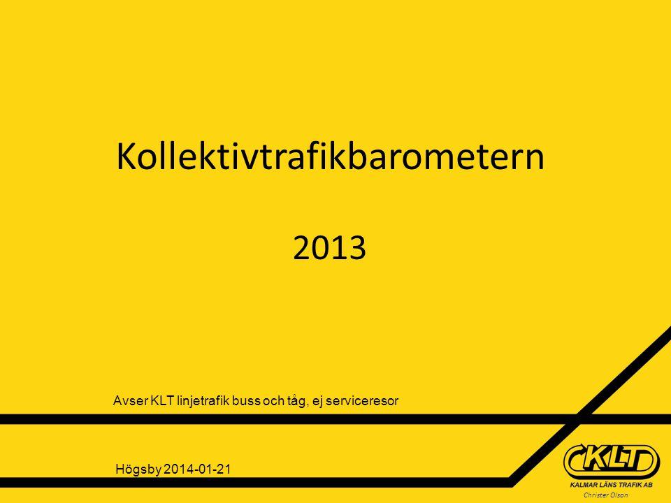 Kollektivtrafikbarometern 2013