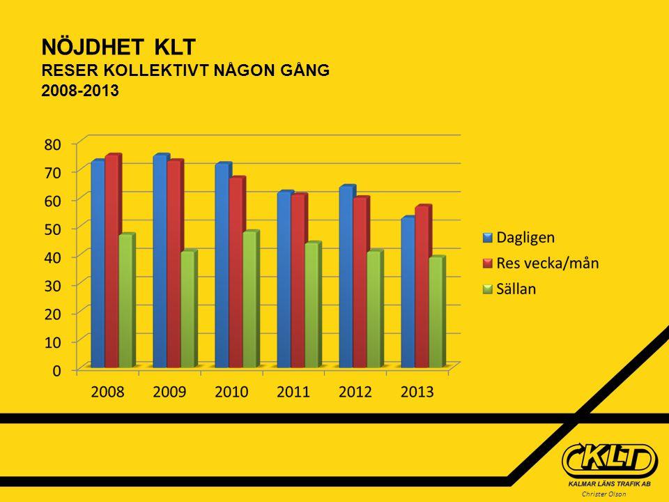 NÖJDHET KLT RESER KOLLEKTIVT NÅGON GÅNG 2008-2013