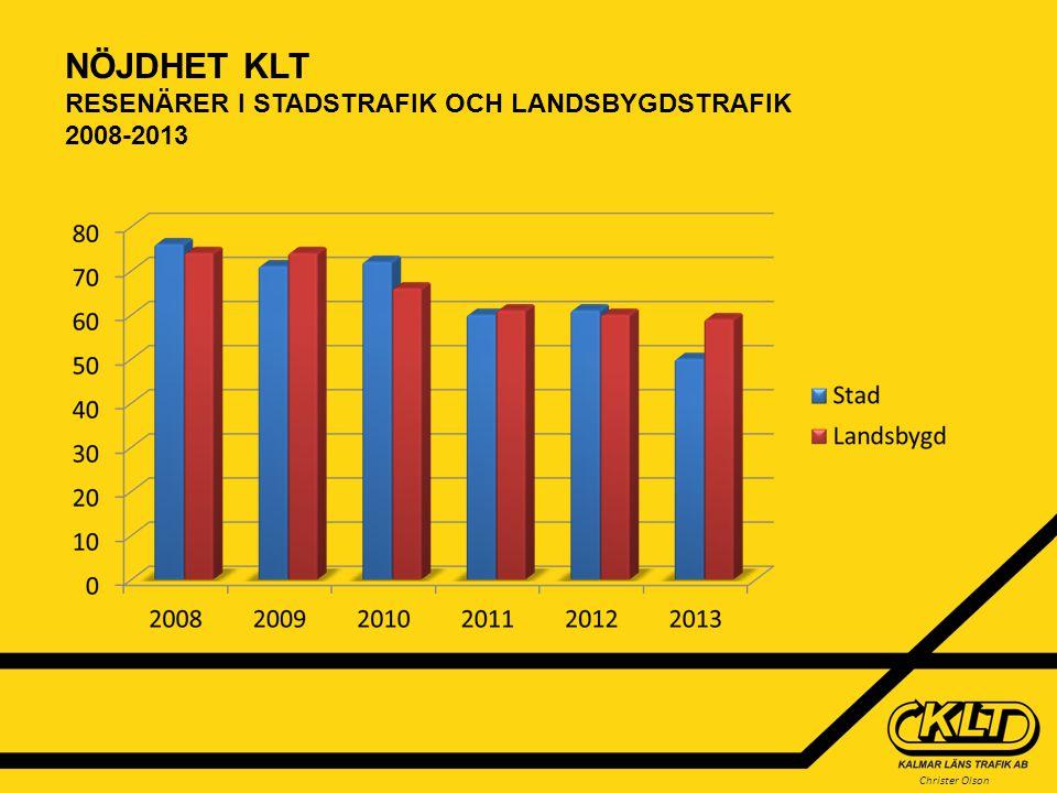 NÖJDHET KLT RESENÄRER I STADSTRAFIK OCH LANDSBYGDSTRAFIK 2008-2013