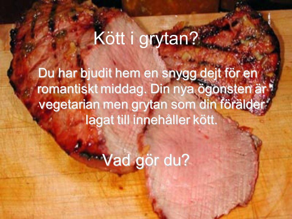 Kött i grytan