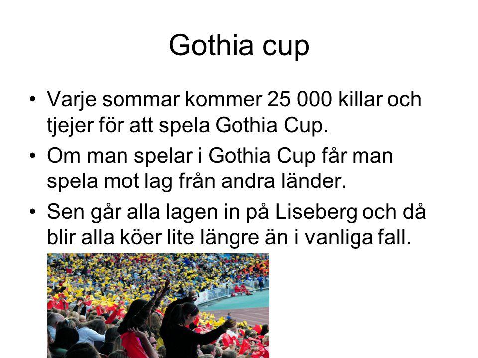 Gothia cup Varje sommar kommer 25 000 killar och tjejer för att spela Gothia Cup.