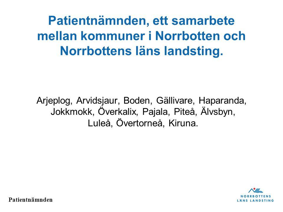 Patientnämnden, ett samarbete mellan kommuner i Norrbotten och Norrbottens läns landsting.
