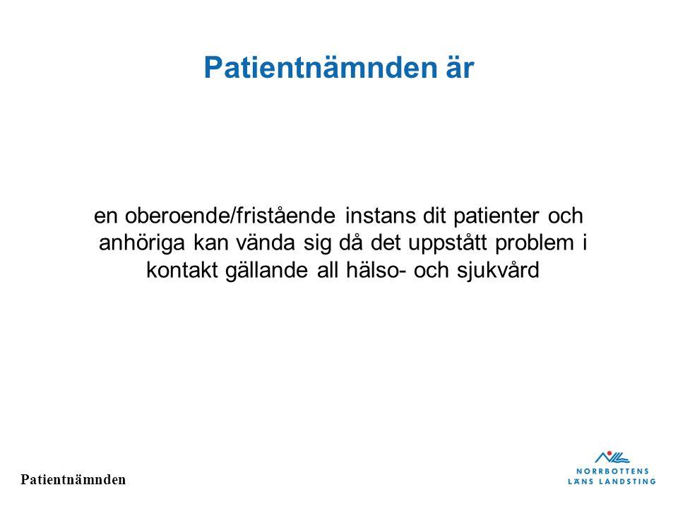 Patientnämnden är