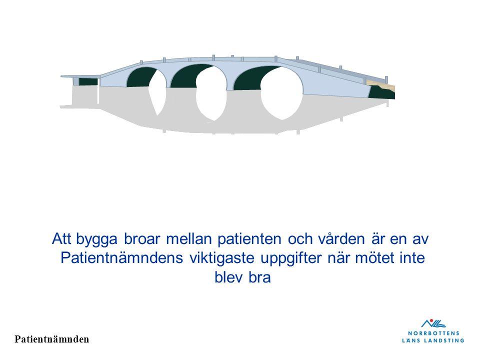 Att bygga broar mellan patienten och vården är en av Patientnämndens viktigaste uppgifter när mötet inte blev bra