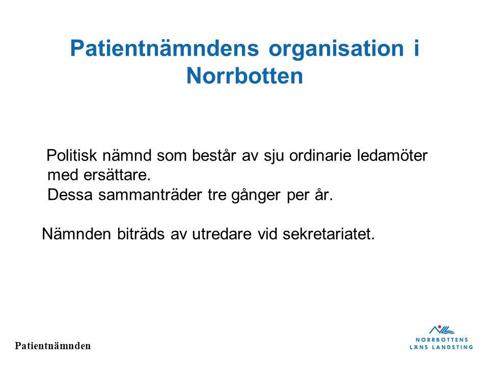 Patientnämndens organisation i Norrbotten