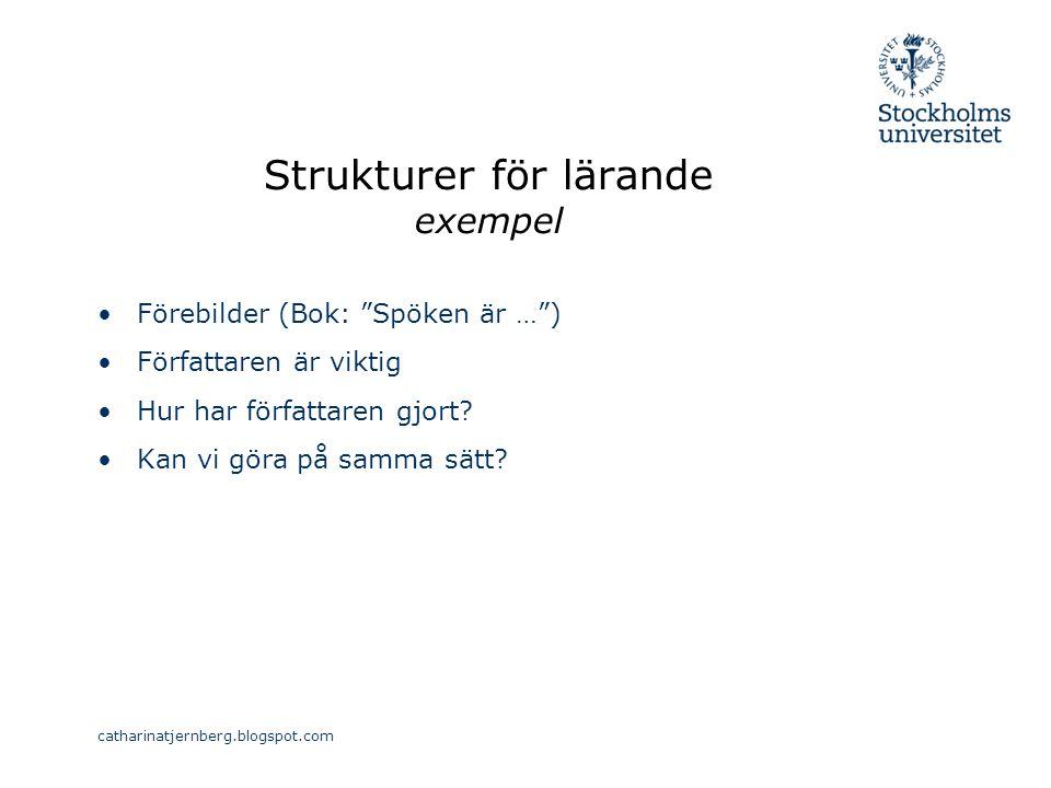 Strukturer för lärande exempel