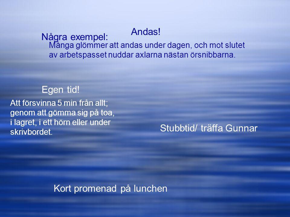 Stubbtid/ träffa Gunnar