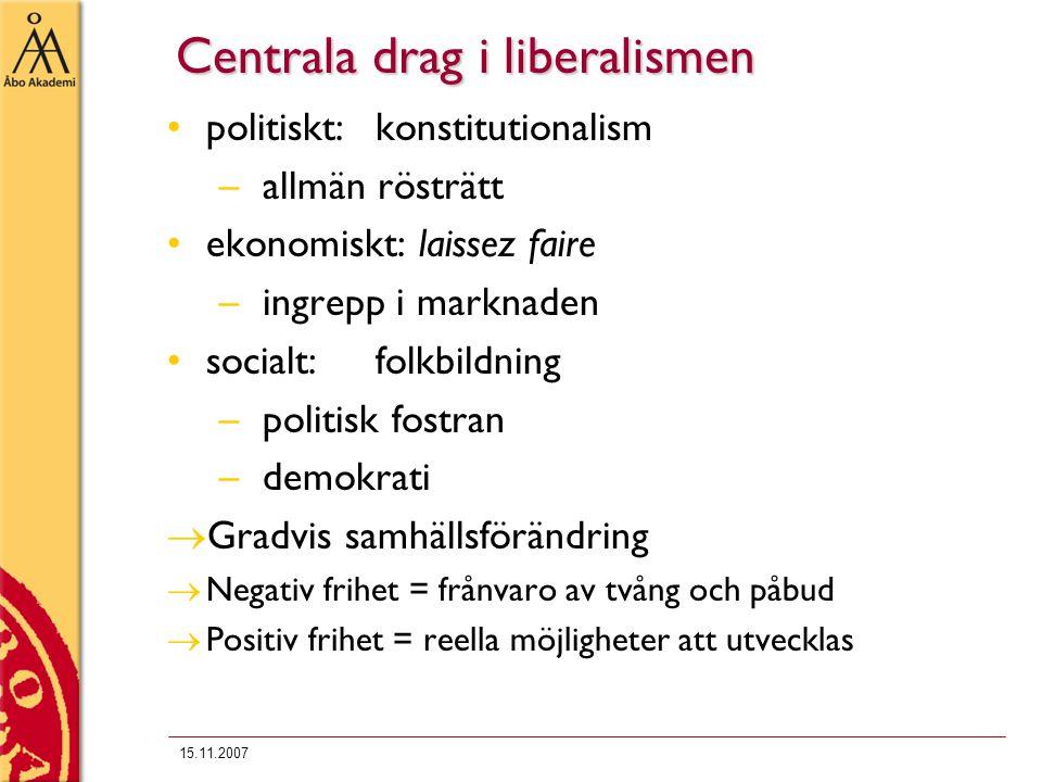 Centrala drag i liberalismen