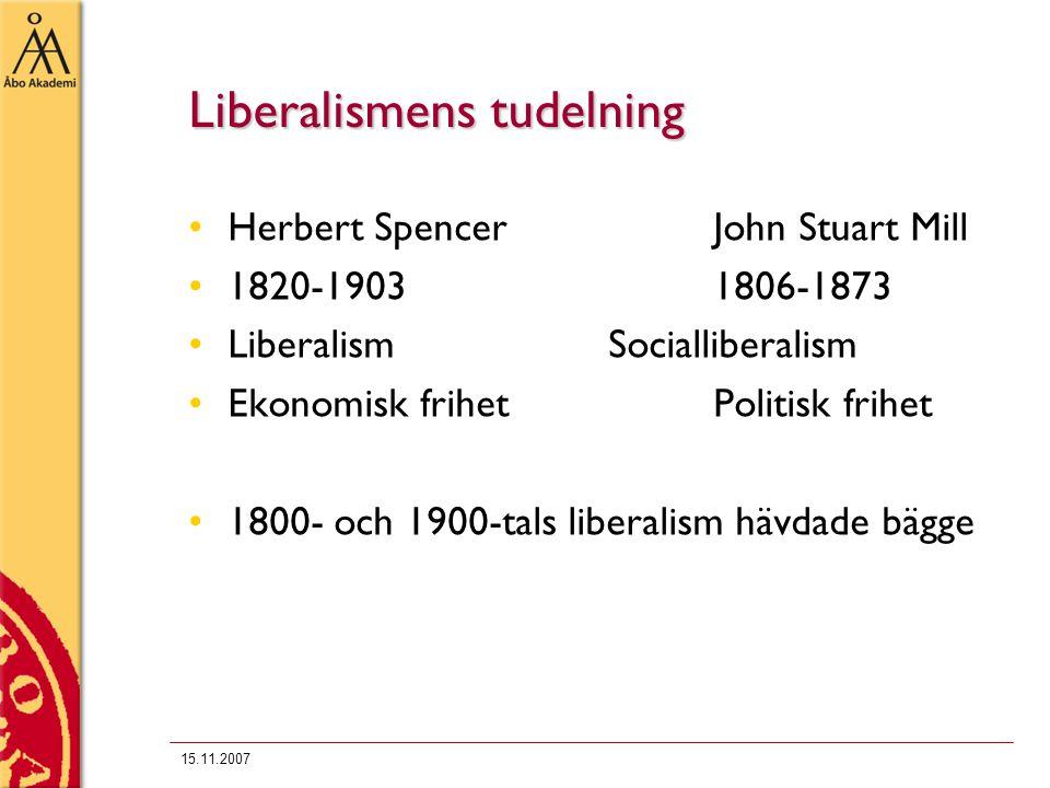 Liberalismens tudelning