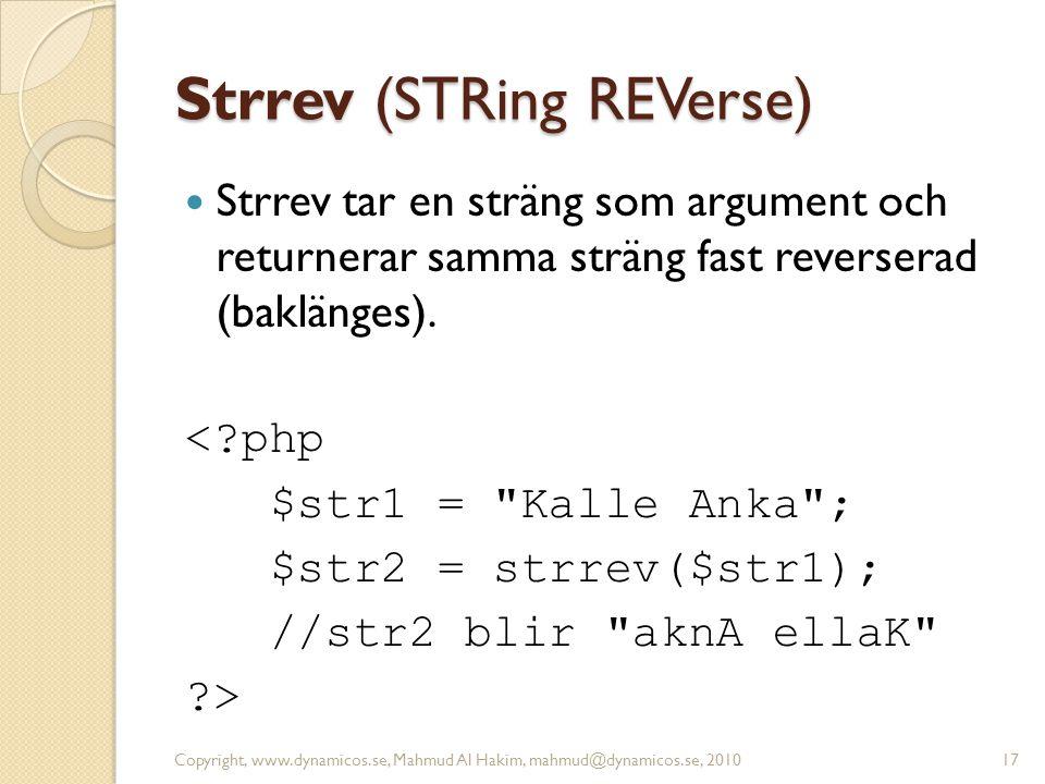 Strrev (STRing REVerse)
