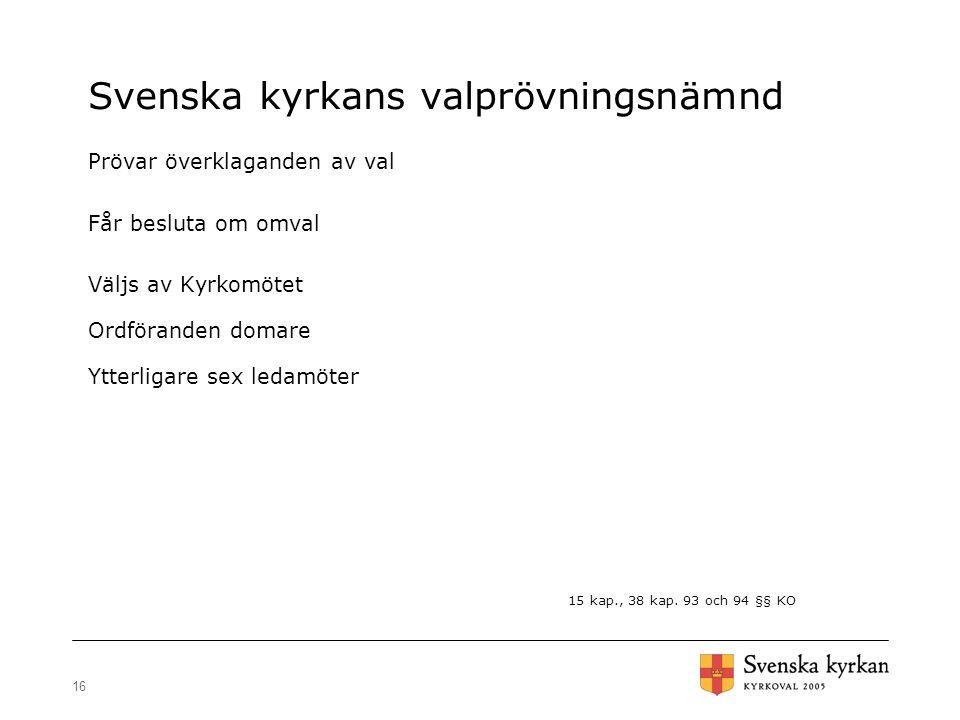 Svenska kyrkans valprövningsnämnd