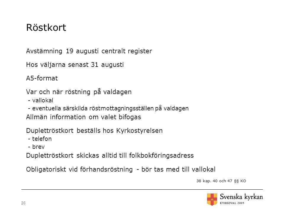 Röstkort Avstämning 19 augusti centralt register