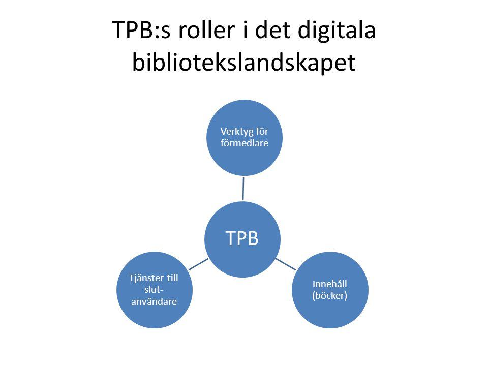TPB:s roller i det digitala bibliotekslandskapet
