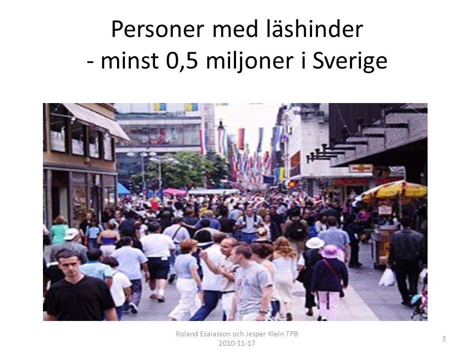 Personer med läshinder - minst 0,5 miljoner i Sverige