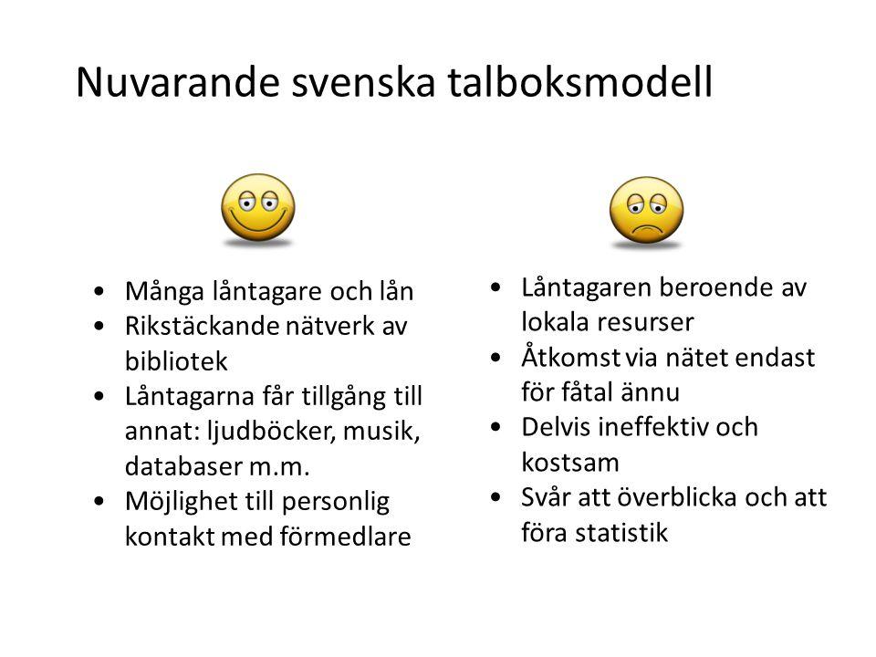 Nuvarande svenska talboksmodell