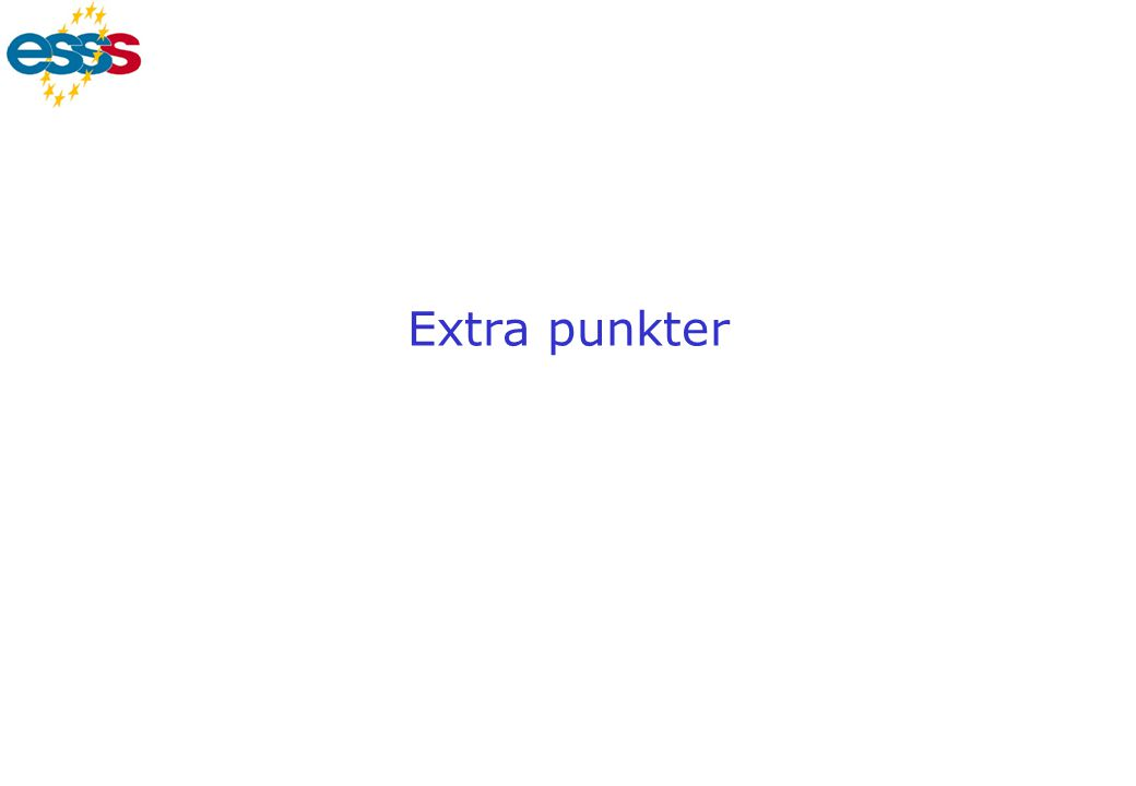 Extra punkter