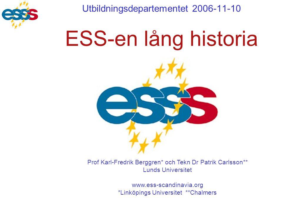Utbildningsdepartementet 2006-11-10 ESS-en lång historia