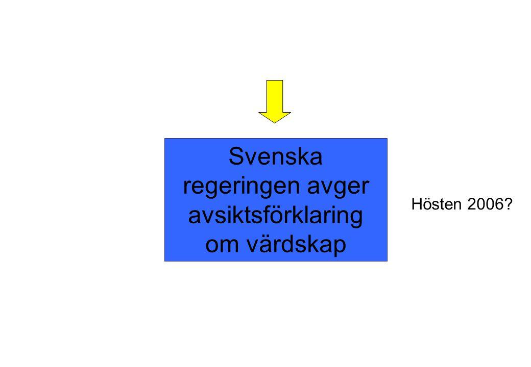 Svenska regeringen avger avsiktsförklaring om värdskap