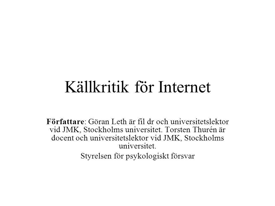 Källkritik för Internet