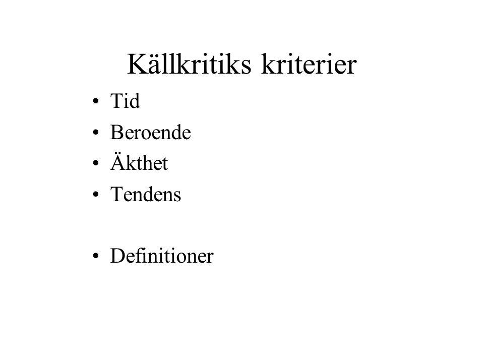 Källkritiks kriterier