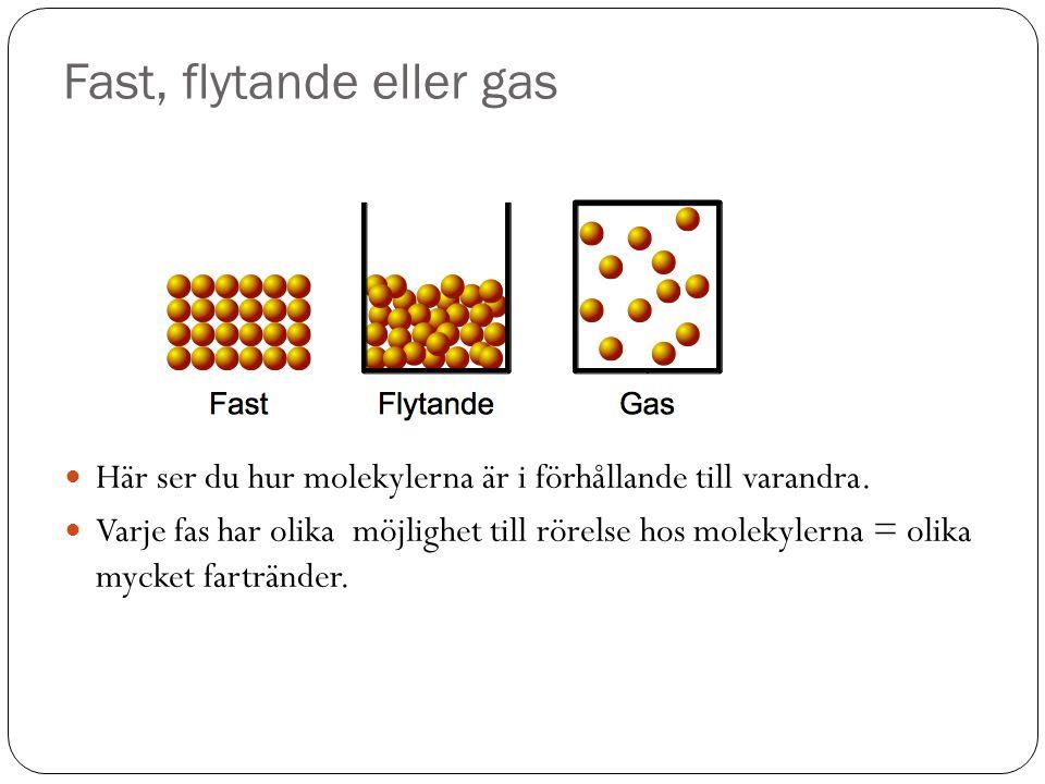 Fast, flytande eller gas