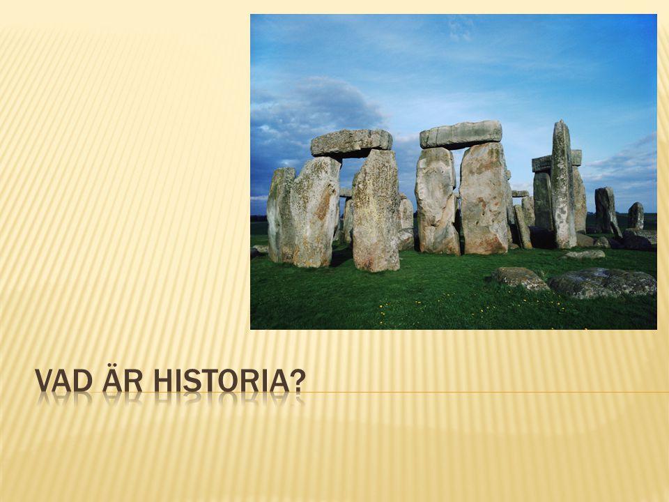 Vad är historia