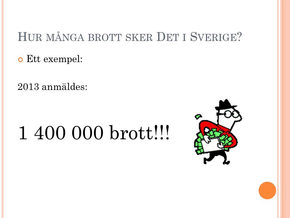 Hur många brott sker Det i Sverige