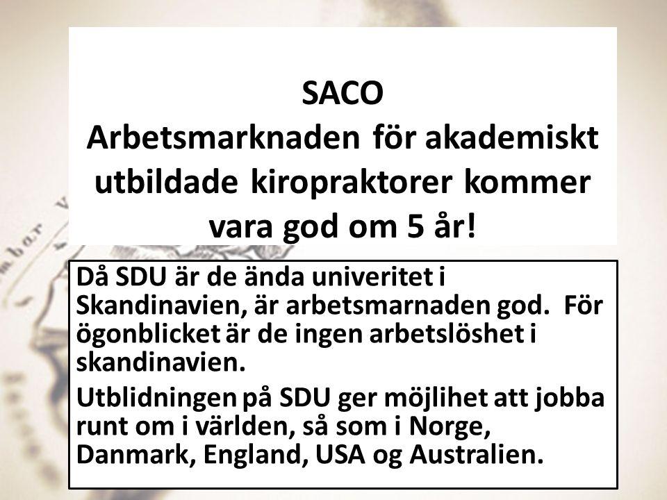 SACO Arbetsmarknaden för akademiskt utbildade kiropraktorer kommer vara god om 5 år!