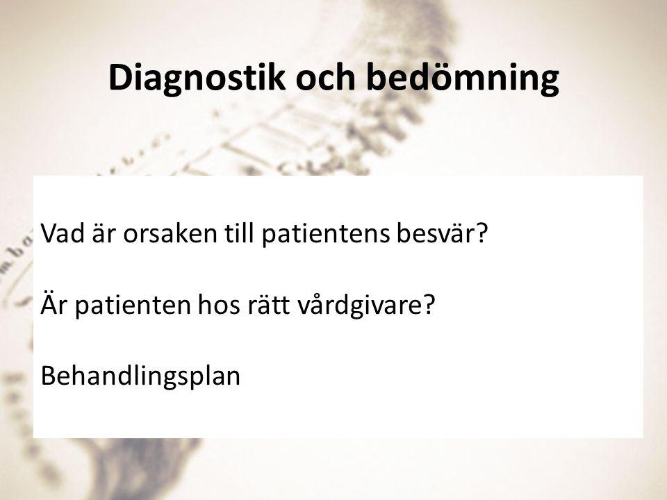Diagnostik och bedömning
