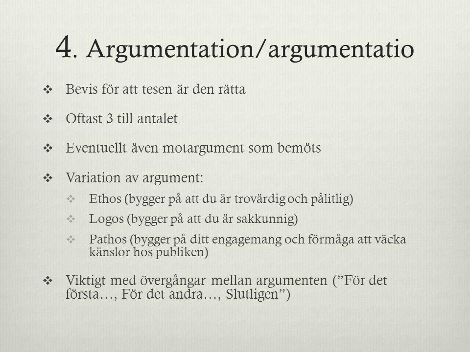 4. Argumentation/argumentatio