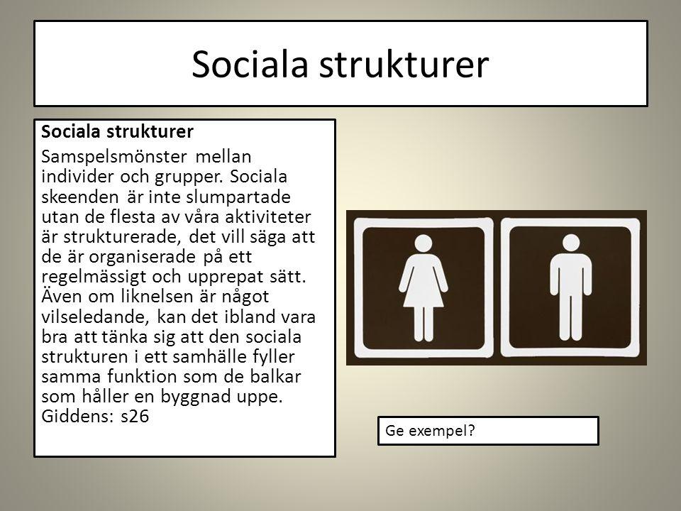 Sociala strukturer