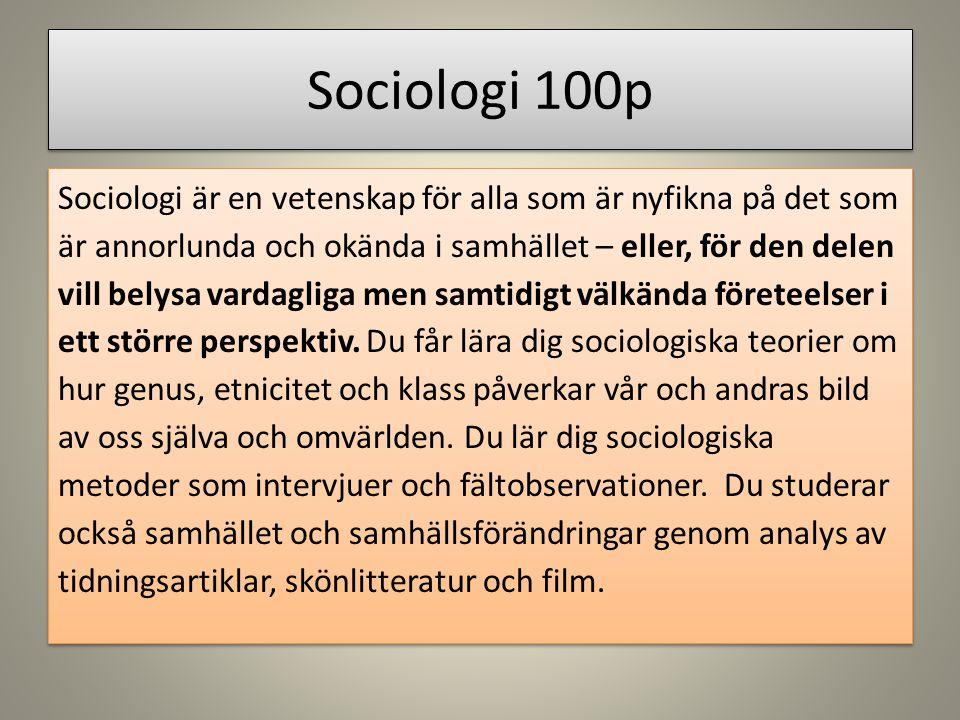 Sociologi 100p