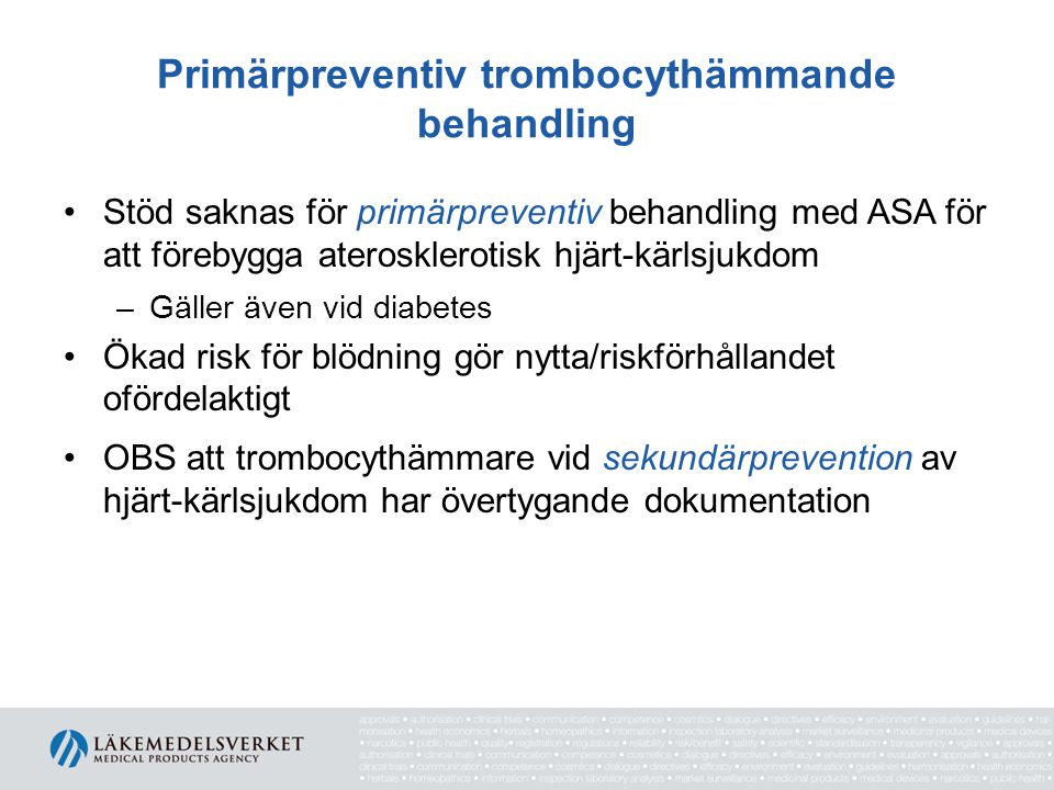Primärpreventiv trombocythämmande behandling