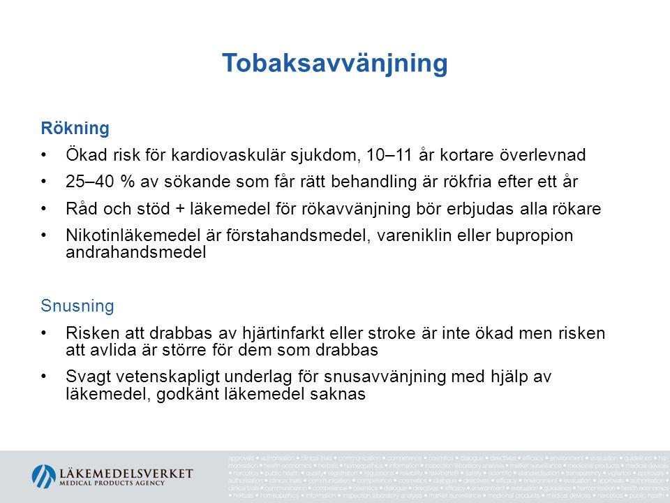Tobaksavvänjning Rökning