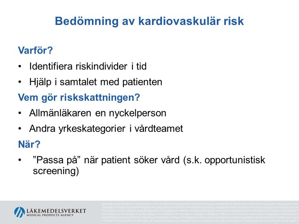Bedömning av kardiovaskulär risk