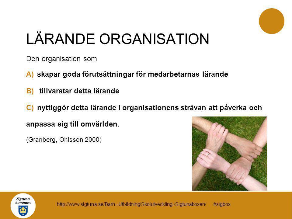 LÄRANDE ORGANISATION Den organisation som