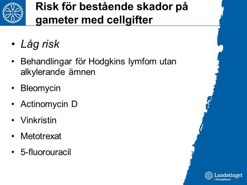 Risk för bestående skador på gameter med cellgifter