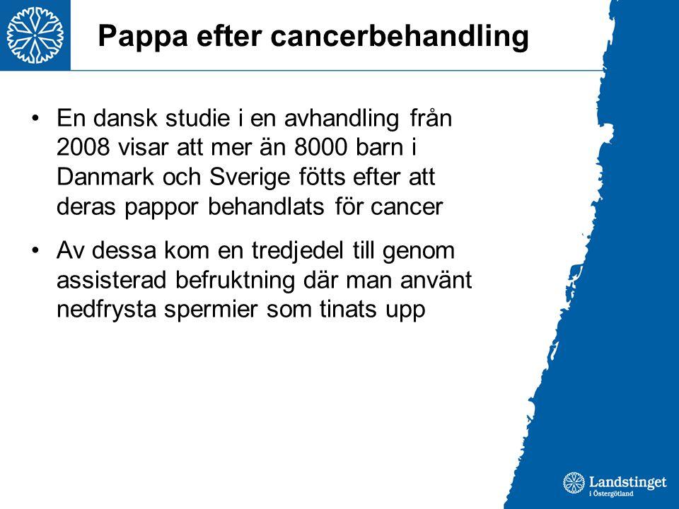 Pappa efter cancerbehandling