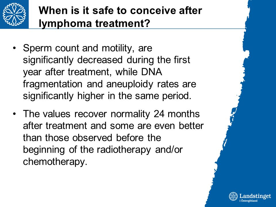 When is it safe to conceive after lymphoma treatment