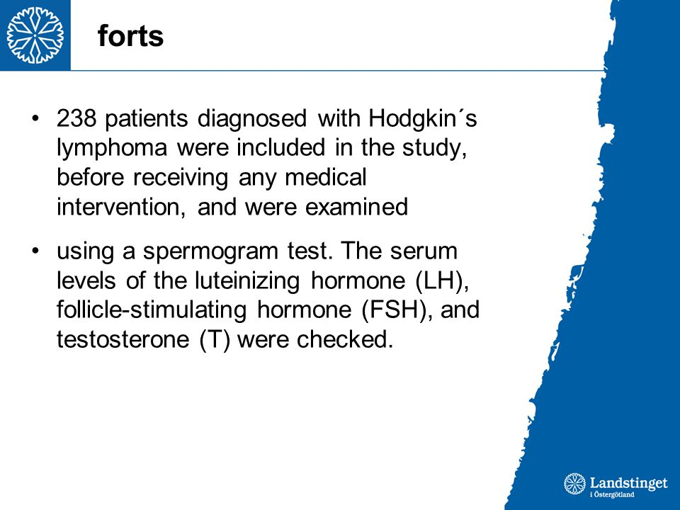 forts 238 patients diagnosed with Hodgkin´s lymphoma were included in the study, before receiving any medical intervention, and were examined.