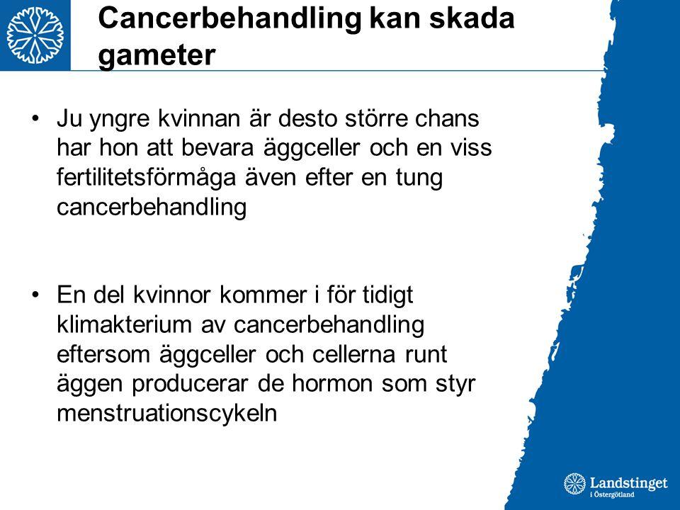 Cancerbehandling kan skada gameter