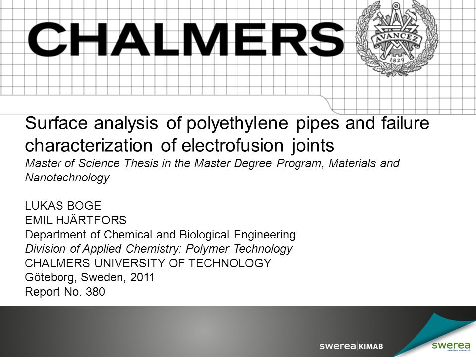 Surface analysis of polyethylene pipes and failure characterization of electrofusion joints
