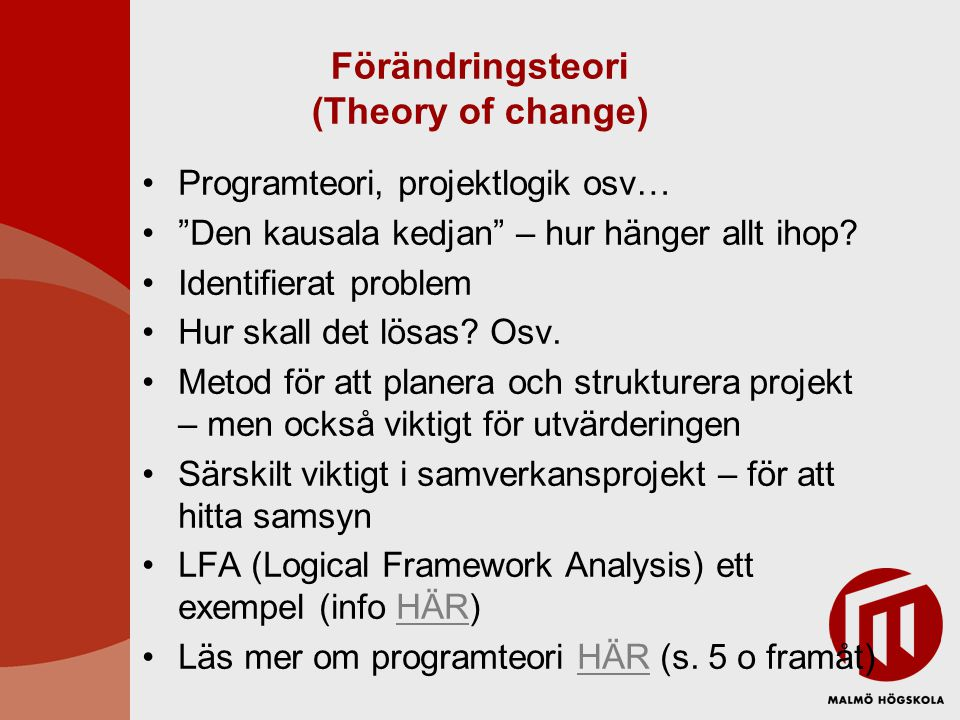Förändringsteori (Theory of change)
